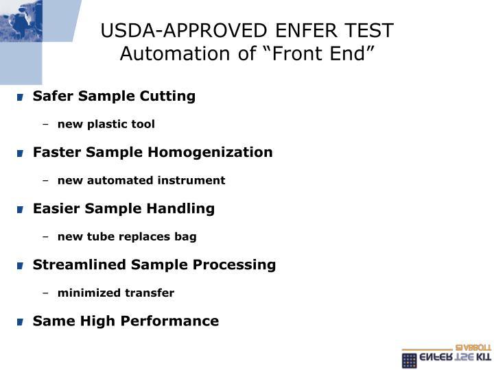 USDA-APPROVED ENFER TEST