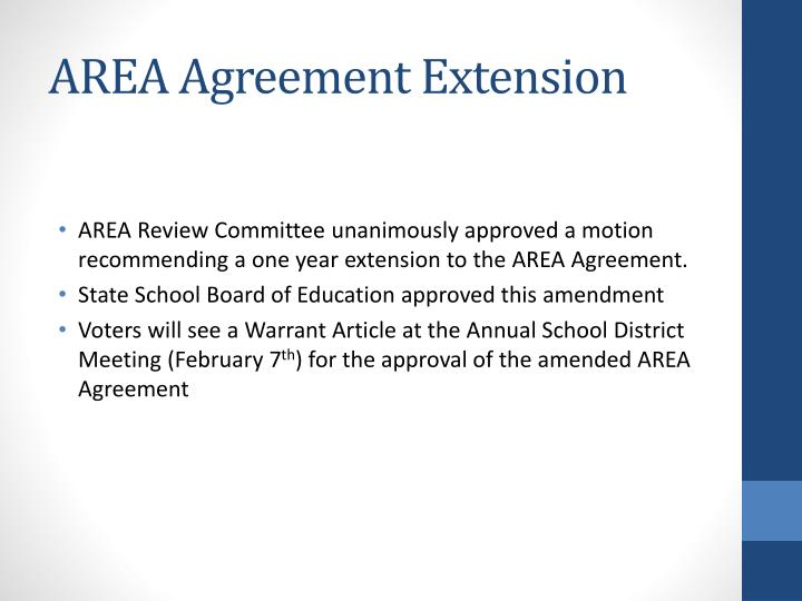 AREA Agreement Extension