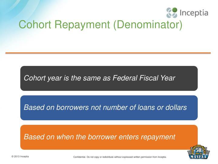 Cohort Repayment (Denominator)