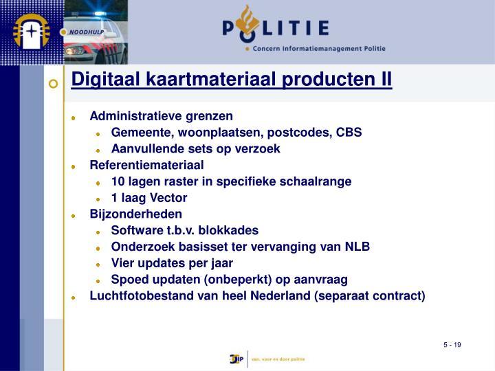 Digitaal kaartmateriaal producten II