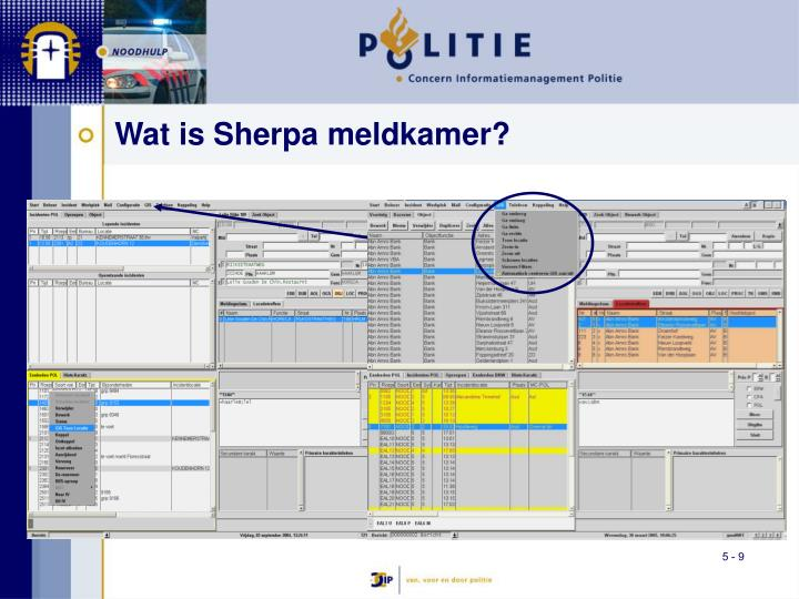 Wat is Sherpa meldkamer?
