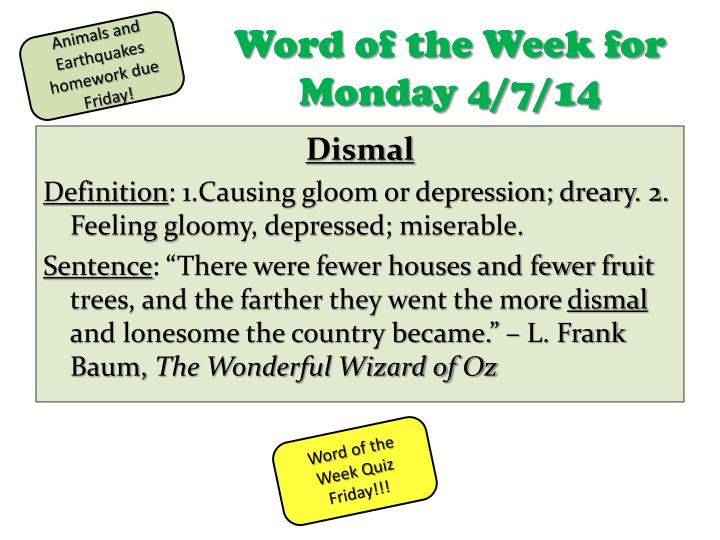 word of the week for monday 4 7 14