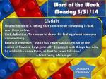 word of the week monday 3 31 14