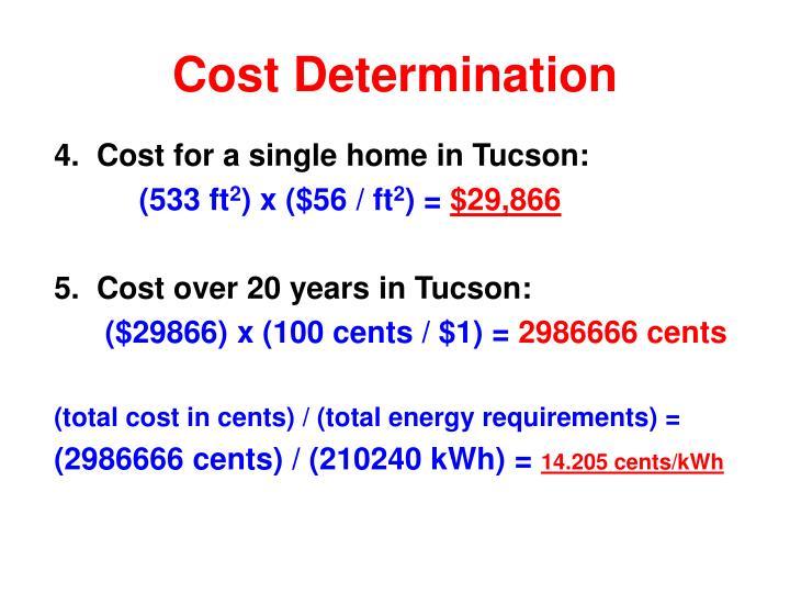 Cost Determination