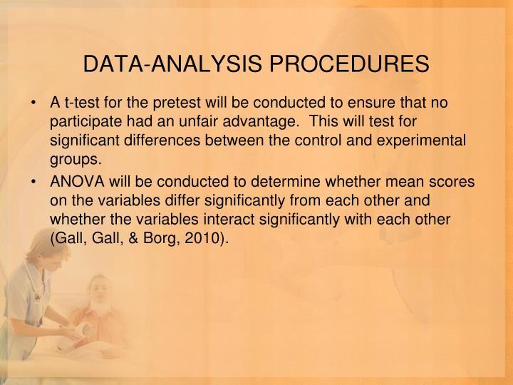 DATA-ANALYSIS PROCEDURES