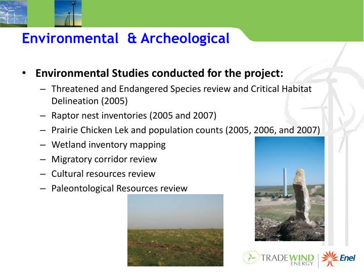 Environmental  & Archeological