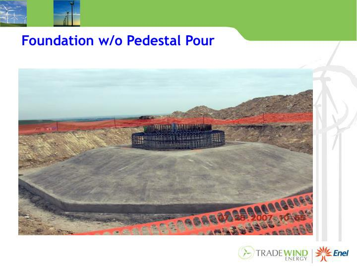 Foundation w/o Pedestal Pour