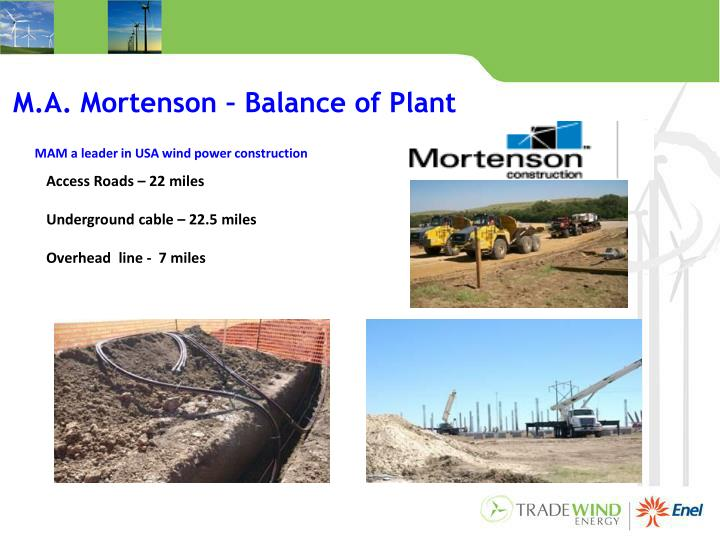 M.A. Mortenson – Balance of Plant