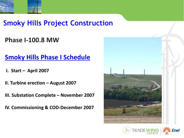Smoky Hills Project Construction