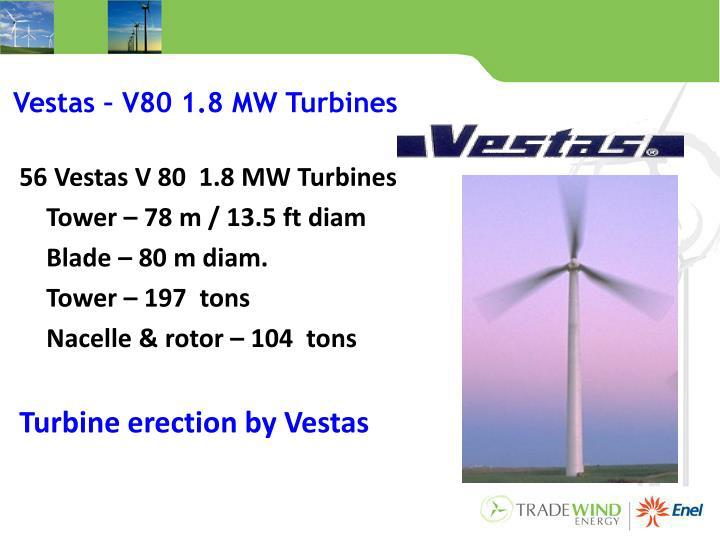 Vestas – V80 1.8 MW Turbines