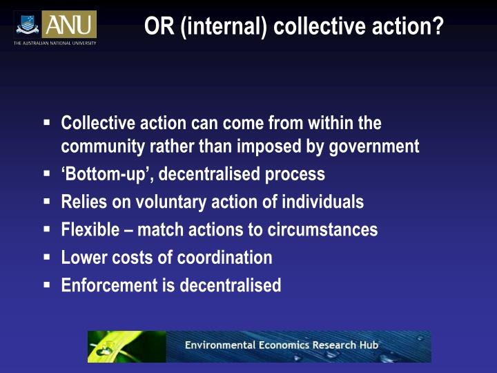 OR (internal) collective action?
