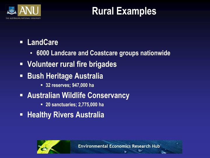 Rural Examples