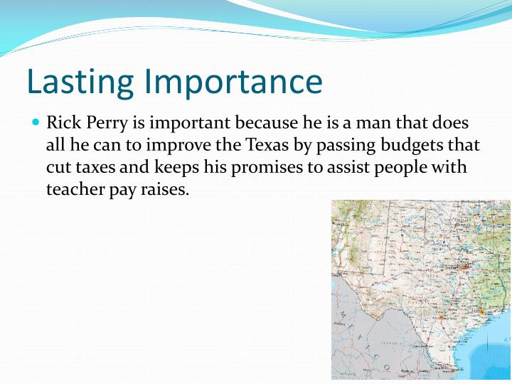 Lasting Importance