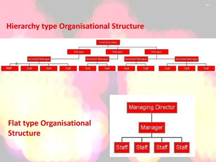 Hierarchy type Organisational Structure