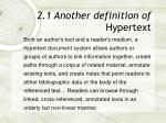 2 1 another definition of hypertext