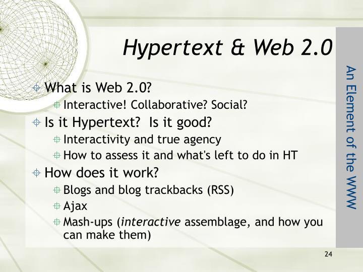 Hypertext & Web 2.0
