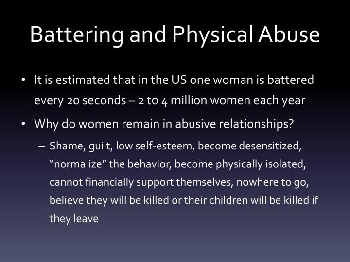 Battering and Physical Abuse