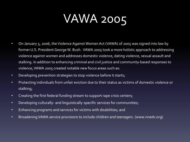 VAWA 2005