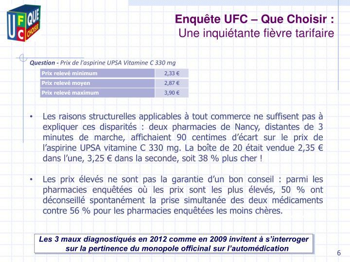 Enquête UFC – Que Choisir :