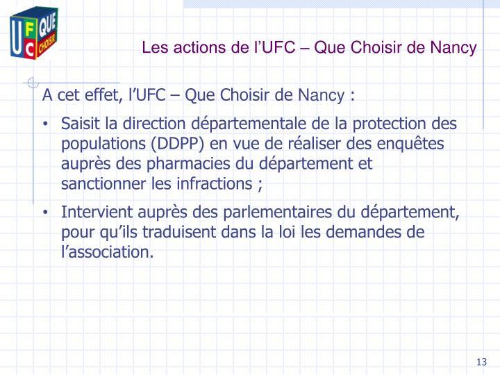 Les actions de l'UFC – Que Choisir de Nancy