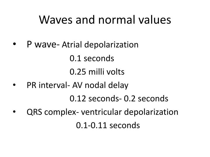 Waves and normal values