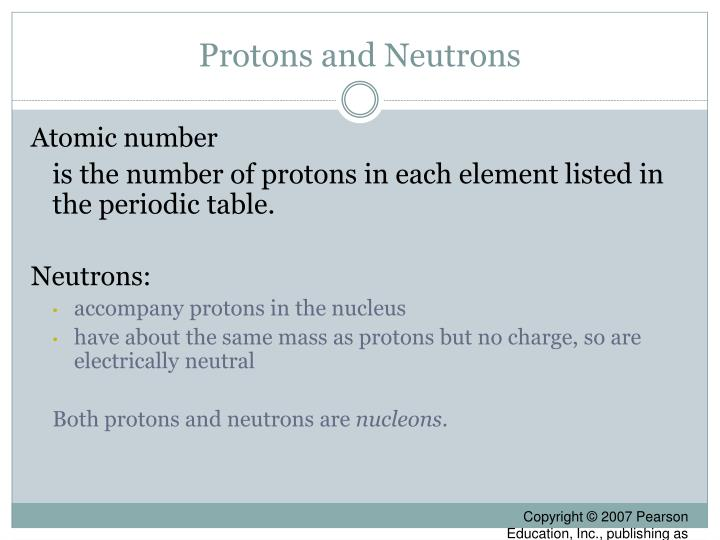 Protons and Neutrons