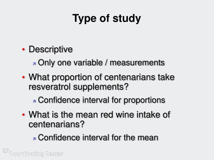 Type of study