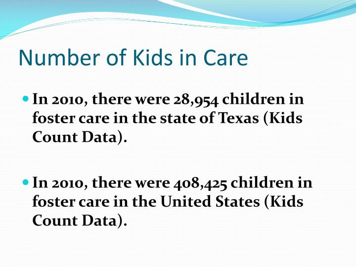 Number of Kids in Care