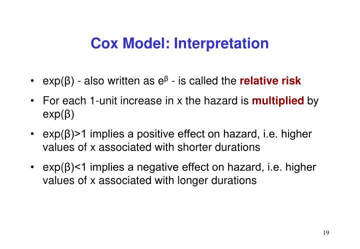 Cox Model: Interpretation