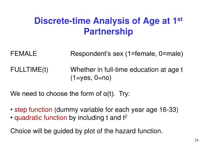 Discrete-time Analysis of Age at 1
