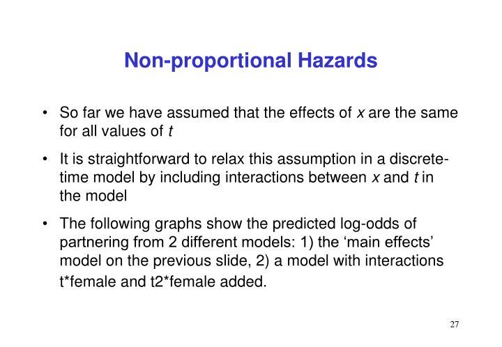 Non-proportional Hazards