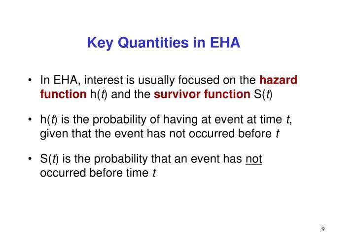 Key Quantities in EHA