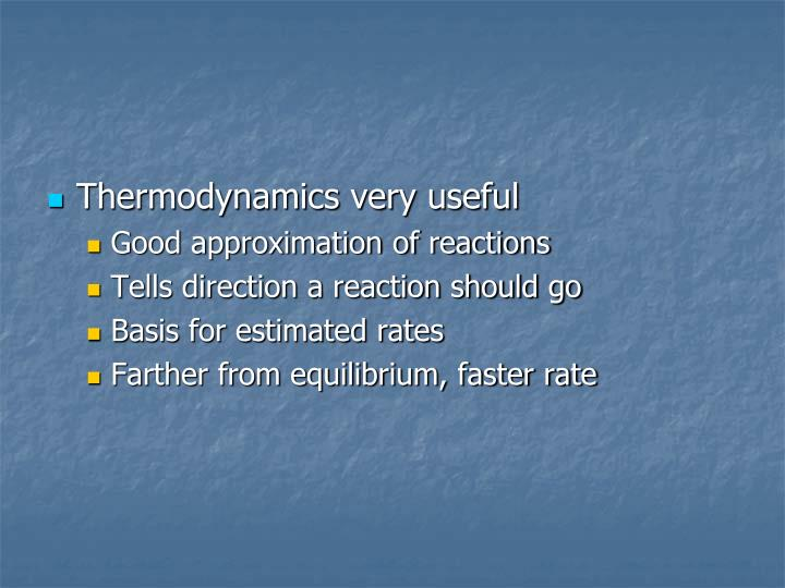 Thermodynamics very useful