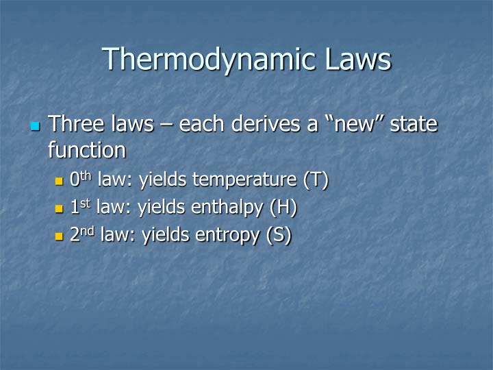 Thermodynamic Laws