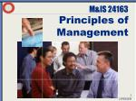 m is 24163 principles of management