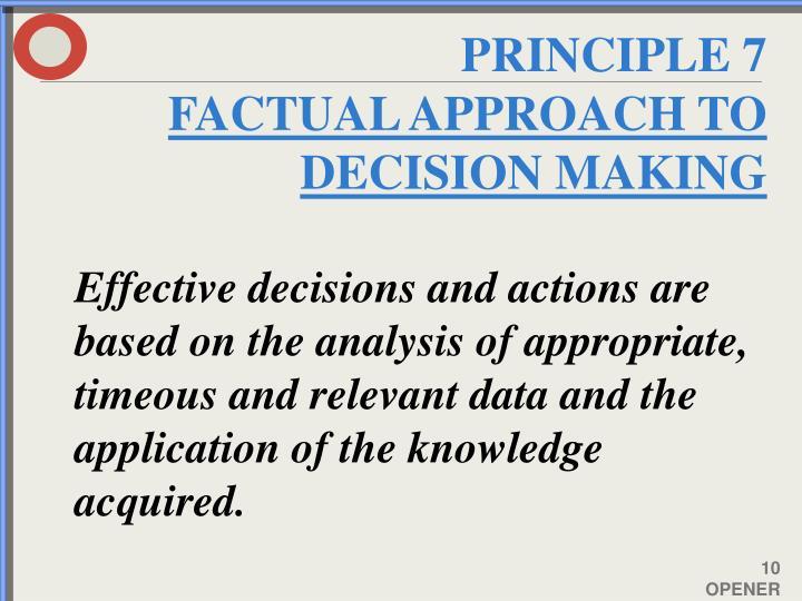 PRINCIPLE 7
