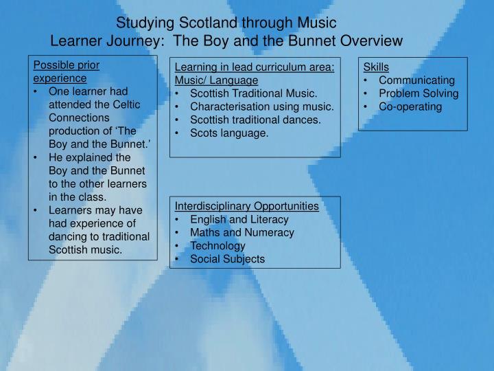 Studying Scotland through Music