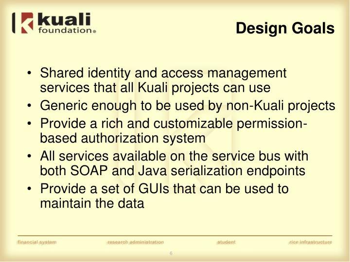 Design Goals