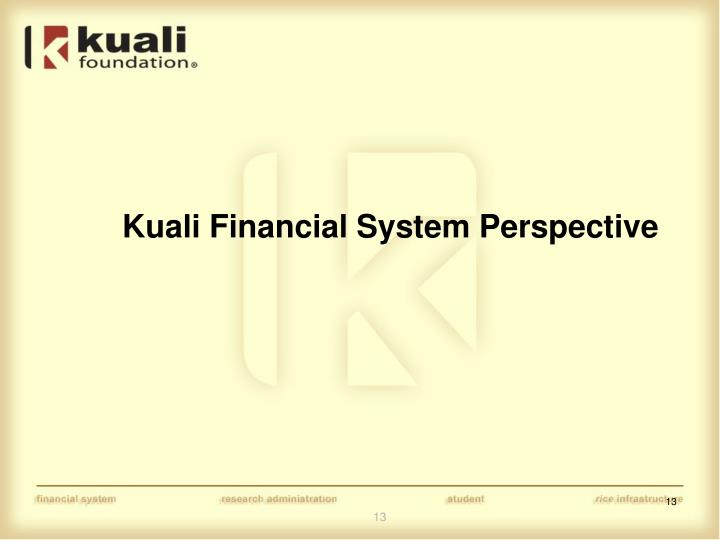 Kuali Financial System Perspective