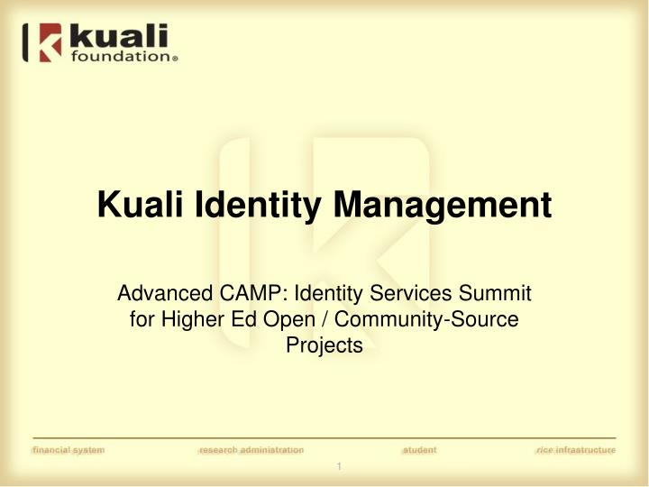 Kuali identity management
