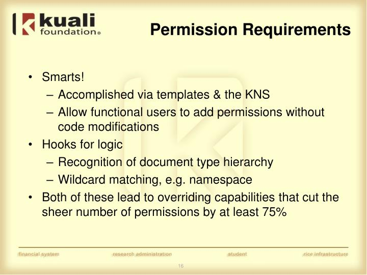 Permission Requirements