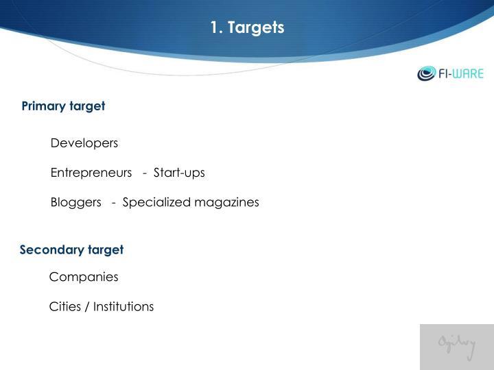 1. Targets