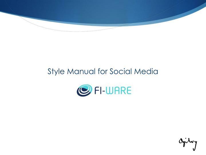 Style Manual for Social Media
