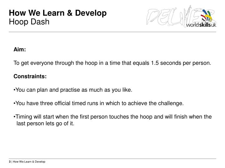 How we learn develop hoop dash