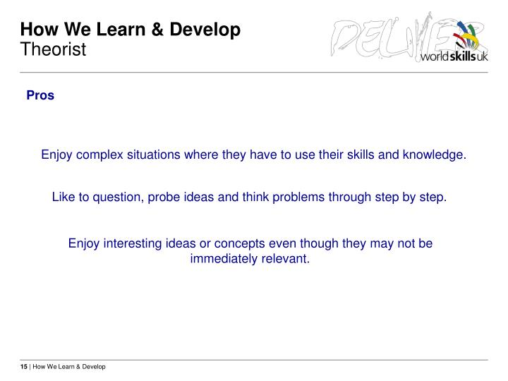 How We Learn & Develop