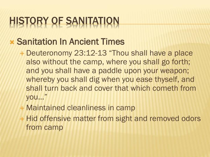Sanitation In Ancient Times