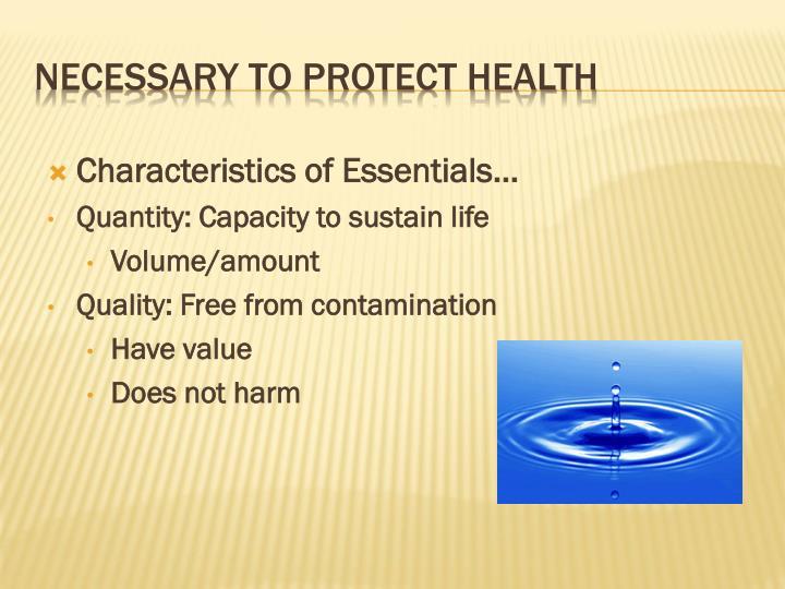 Characteristics of Essentials…