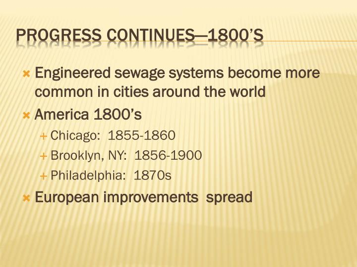 Engineered sewage systems become more common in cities around the world