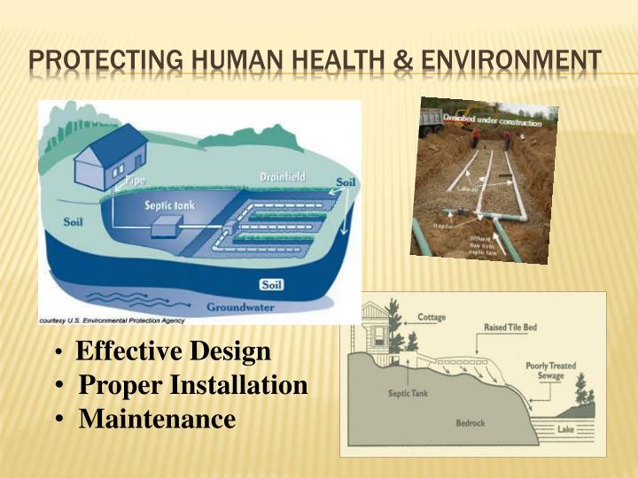 Protecting Human Health & Environment