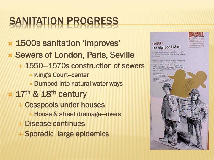 1500s sanitation 'improves'